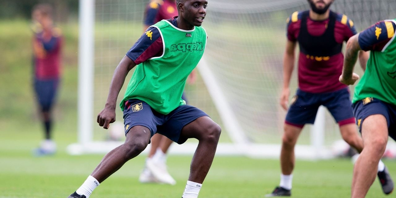 Video: Marvellous Nakamba trains with his Villa teammates ahead of the trip to Norwich