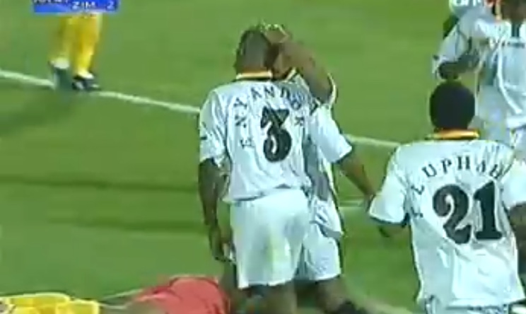 Video: Esrom Nyandoro's goal for the Warriors at AFCON 2004