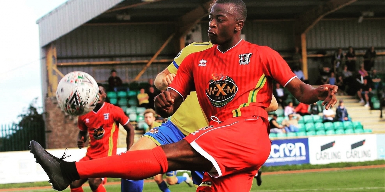 Mudimu on target as Cefn Druids beat Caernarfon Town