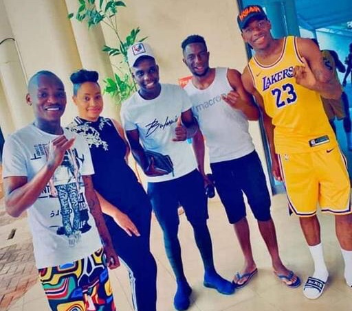 Gallery: Pokello hangs out with the Warriors