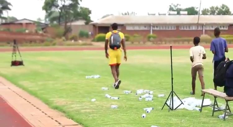 Watch: Alec Mudimu picks up empty water bottles at Warrior training ground