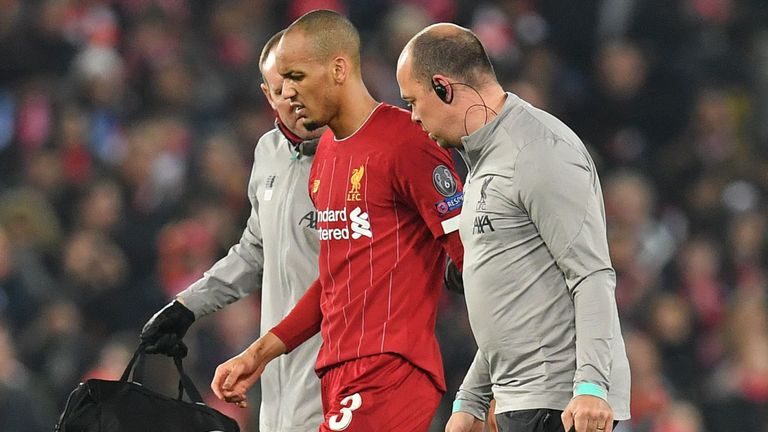 Liverpool's Fabinho out until next year
