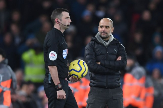 Guardiola explains post-match gesture towards referee after losing to Liverpool