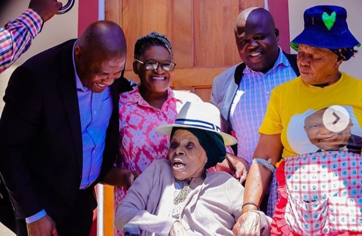 Mapeza's boss buids house for 108-year-old woman