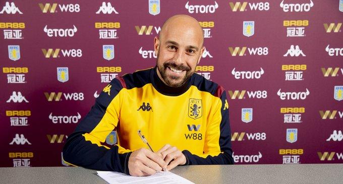 Pepe Reina joins Aston Villa