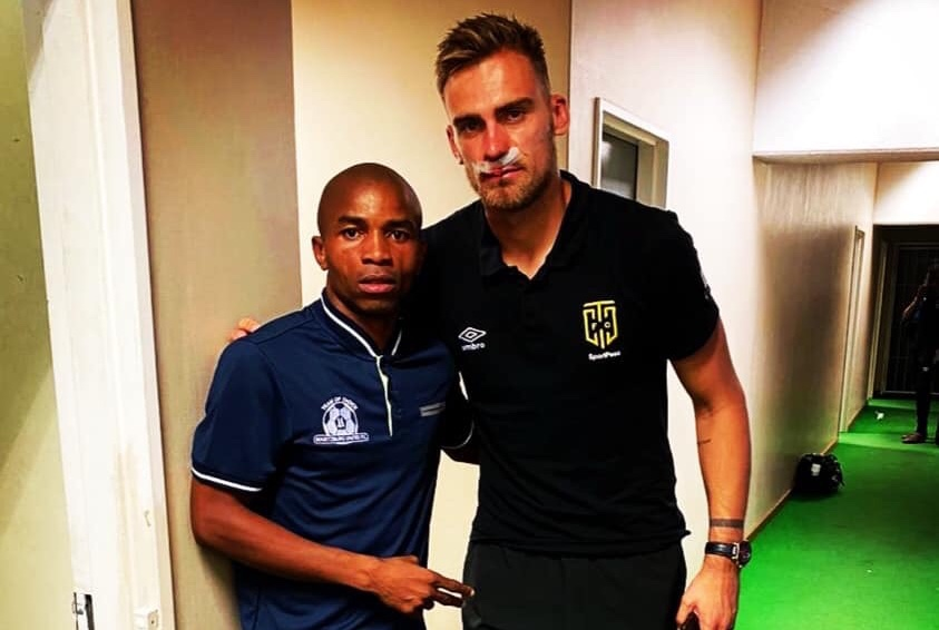 Nyoni issues heartwarming apology to Cape Town City goalie after horror challenge