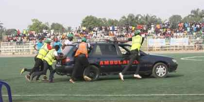 Nigerian footballer collapses on the field, dies after ambulance failed to start