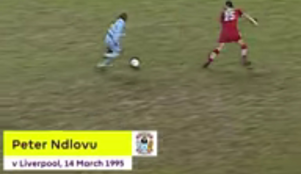 Peter Ndlovu's solo effort against Liverpool remembered in England during lockdown - soccer24.co.zw