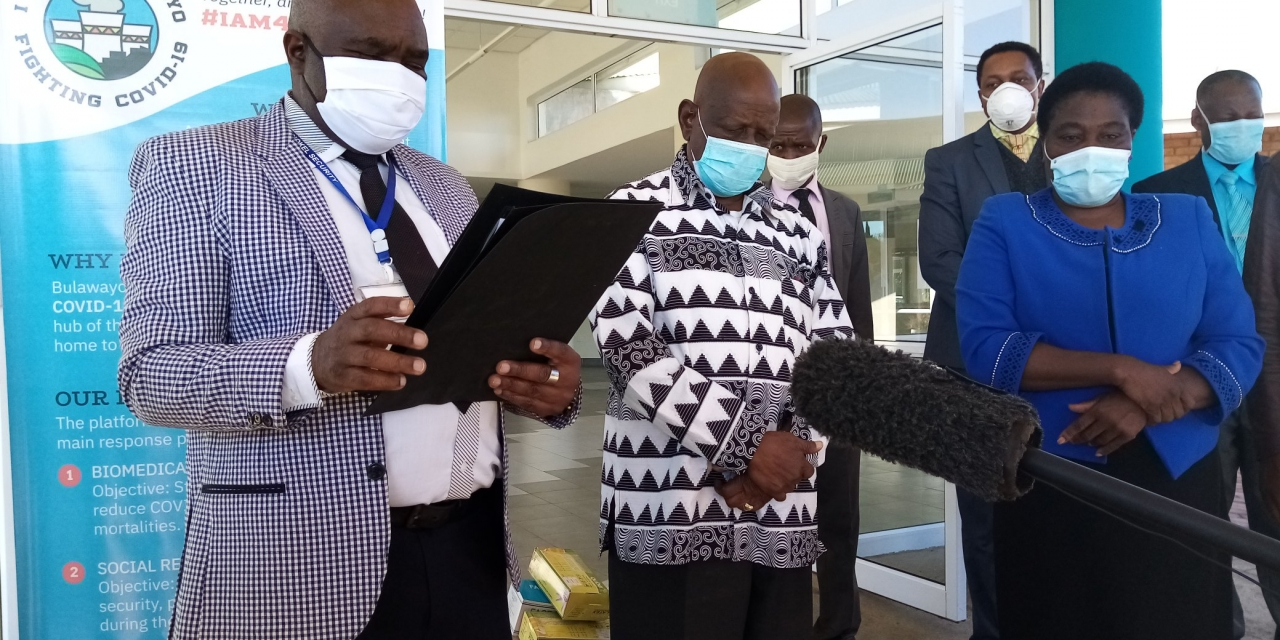 Highlanders hand over coronavirus goods