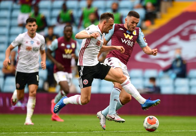 Aston Villa, Sheffield share spoils on Premier League return