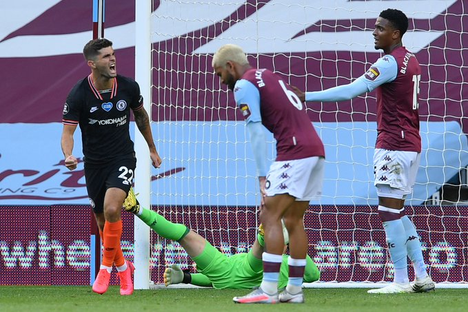 Chelsea sink Aston Villa to boost top four hopes