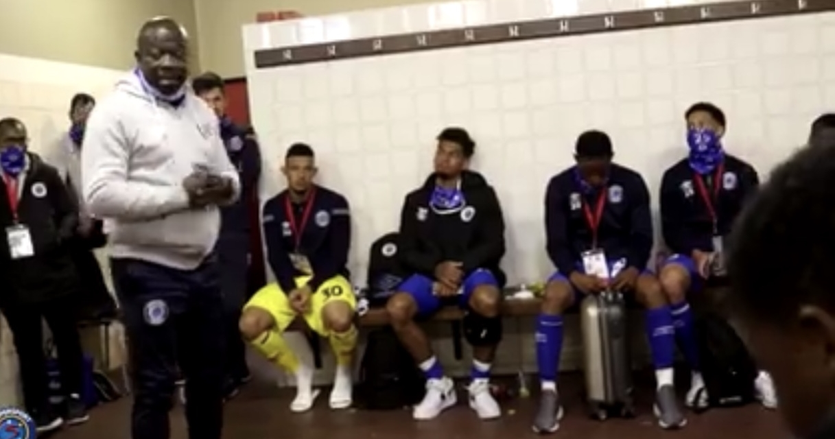 Video: Inside the SuperSport United dressing room with Kaitano Tembo