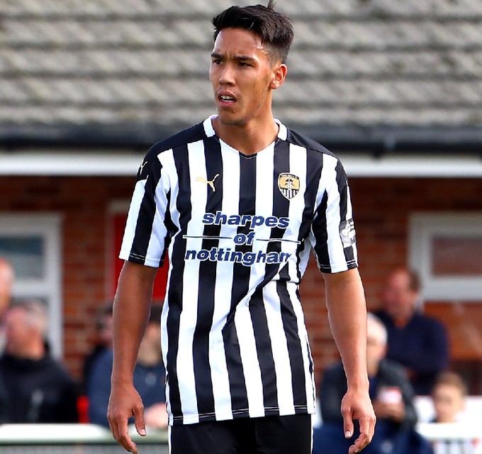 Adam Chicksen shifts position at Notts County