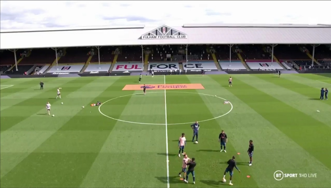 Video: Arsenal players fight during warm-up to Fulham clash
