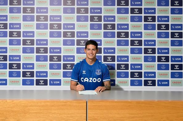 Everton sign James Rodriguez