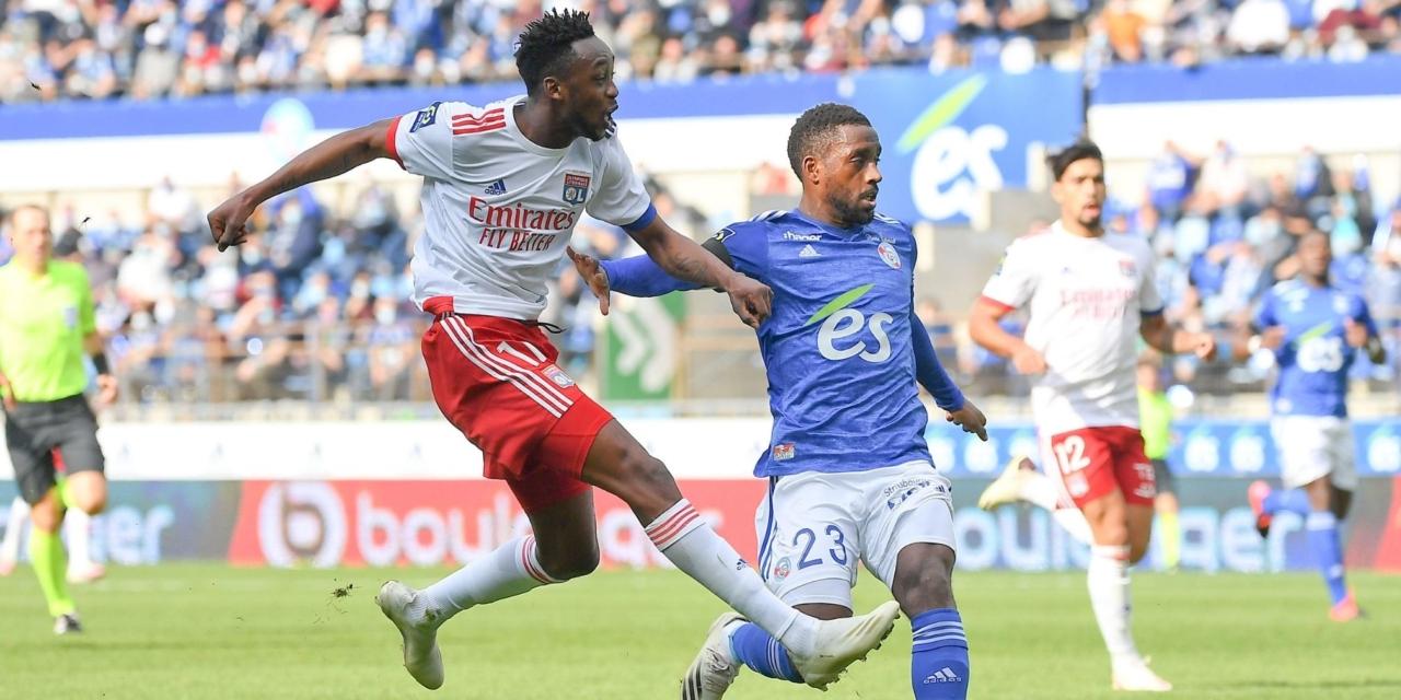 Kadewere's reaction after scoring first Ligue 1 goal