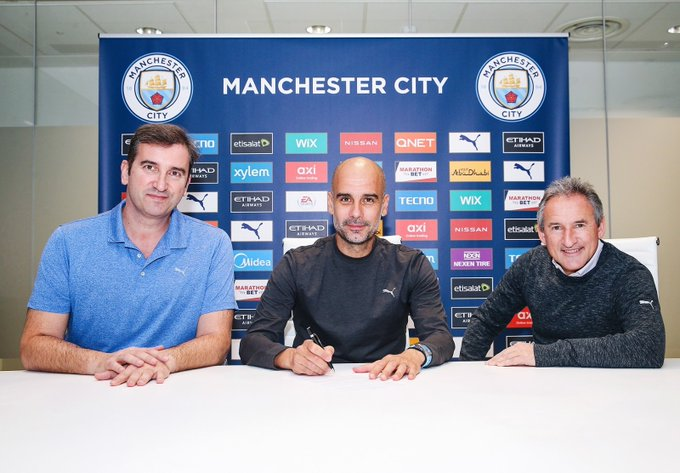 Guardiola extends Manchester City contract