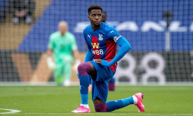 Zaha to stop taking a knee before kick-off