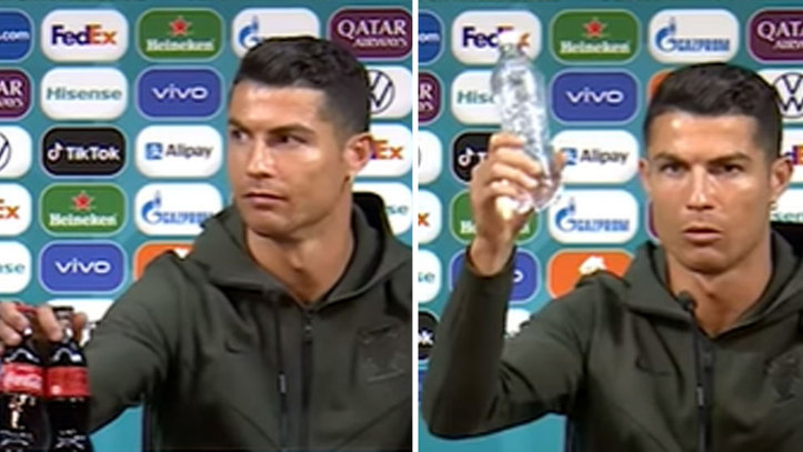 Revealed: Reason Cristiano Ronaldo removed bottles of Coca Cola from his press conference table