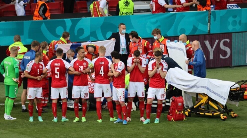 Schmeichel reveals how Uefa 'arm-twisted' Denmark players to finish Euro game after Eriksen had collapsed