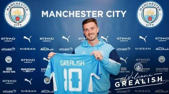 City sign Grealish for British transfer record fee